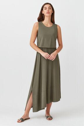 Asymmetrical Overlay Dress
