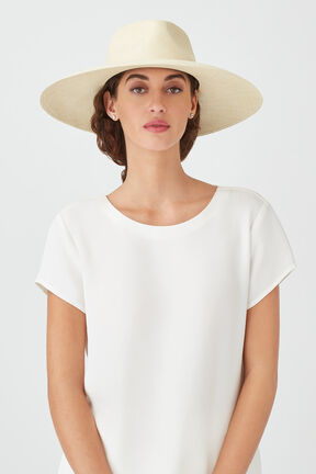 Wide Brim Summer Hat, Natural/Natural, plp