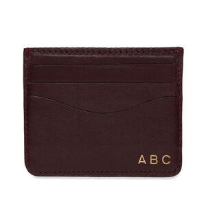 Leather Cardholder, Burgundy, mono-gallery
