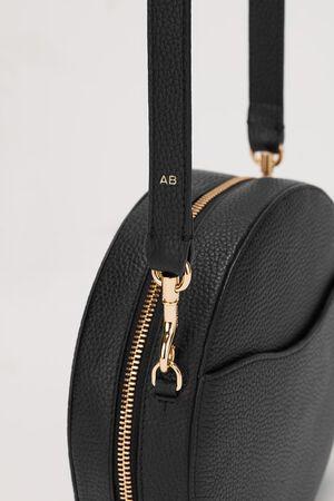 Circle Crossbody Bag, Black, mono-gallery
