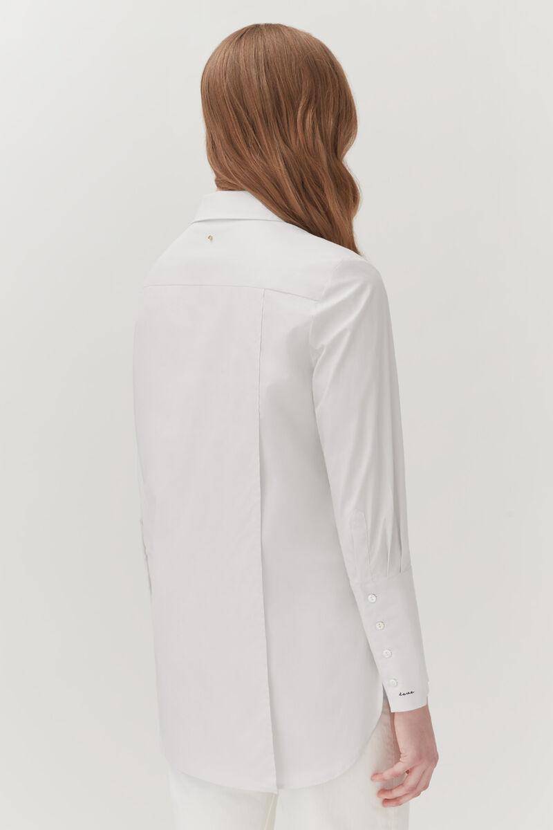 Poplin Overlay Shirt in White