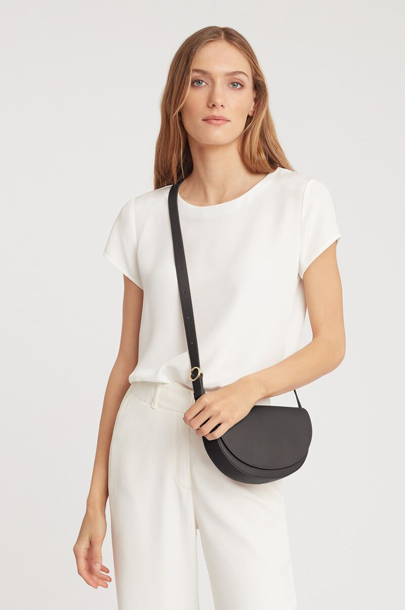 Half-Moon Mini Bag in Black