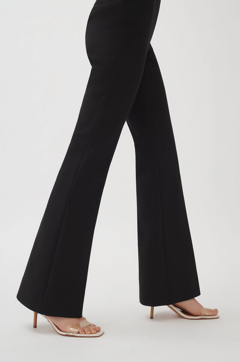 Cotton Twill Flared Pant, Black, large