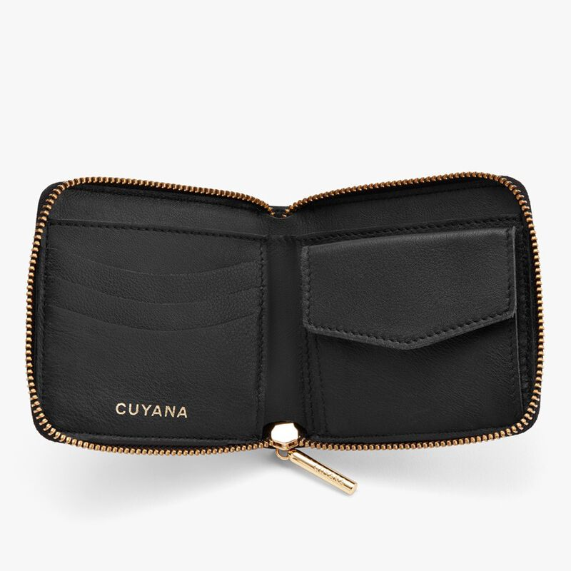 Small Classic Zip Around Wallet in Black