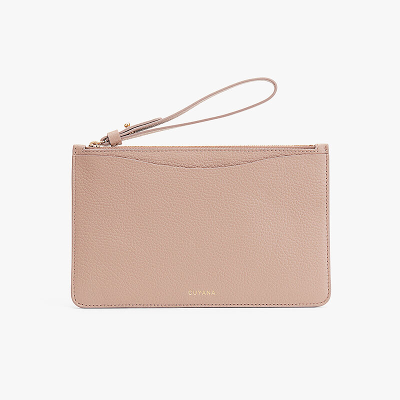 Slim Wristlet Wallet in Soft Rose