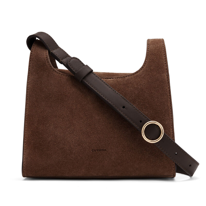 Mini Double Loop Bag, Chocolate (Limited Edition), large