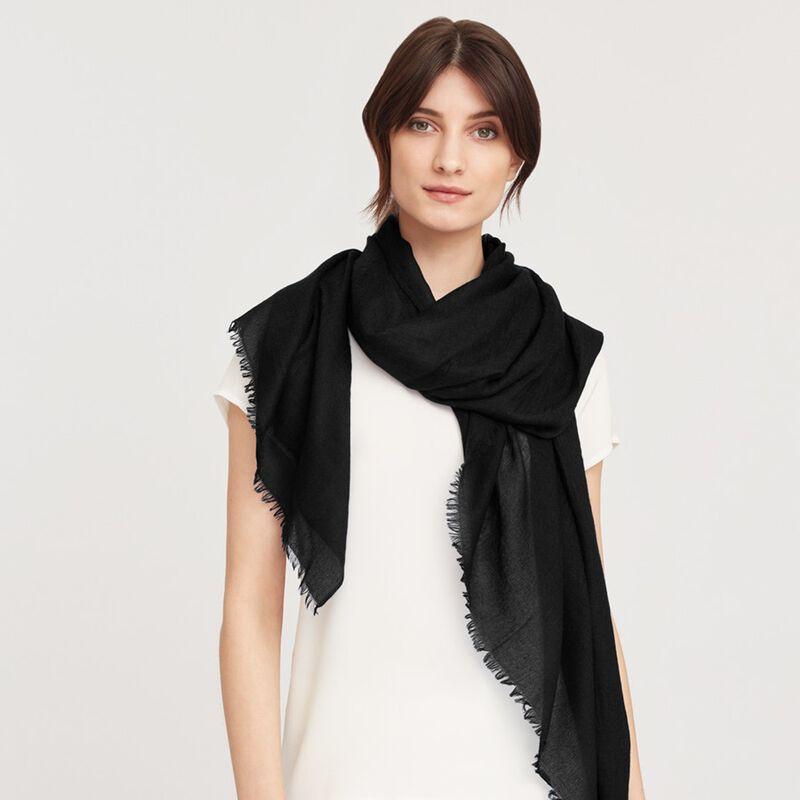 Lightweight Cashmere Scarf in Black