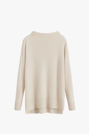 Single-Origin Cashmere Funnel Neck Sweater