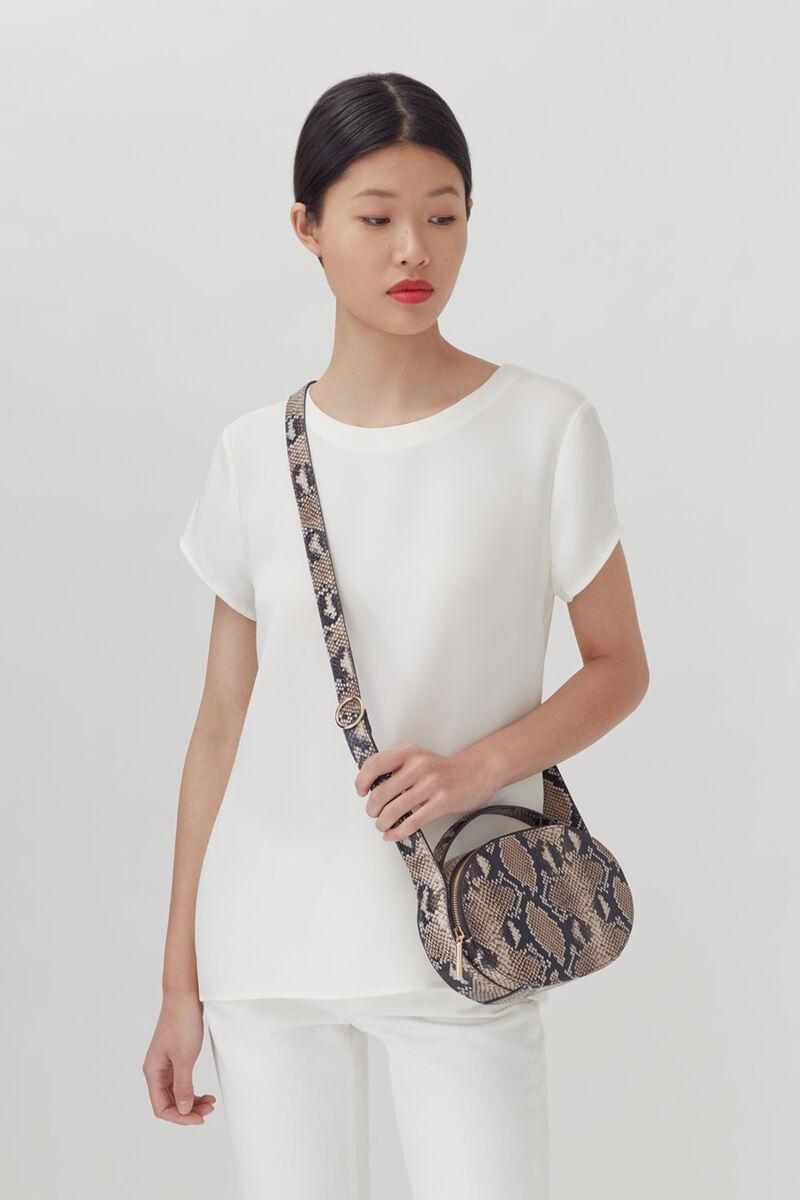 Top Handle Crossbody Bag, Natural Snake, large