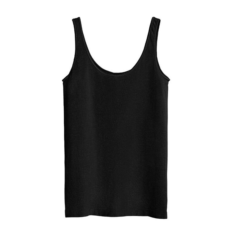 Seamless Tank, Black, large