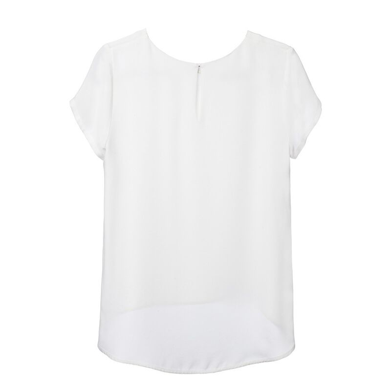 Silk Tee in White