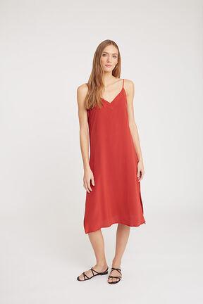 Silk Slip Dress, Blood Orange, plp