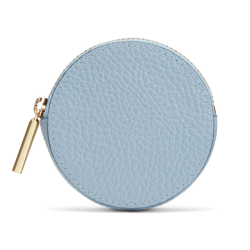 Leather Coin Pouch in Dusk Blue