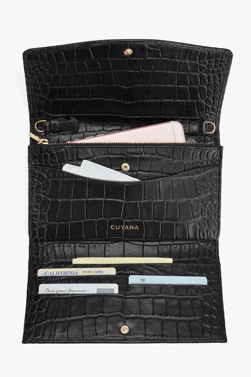 Convertible Clutch in Textured Black