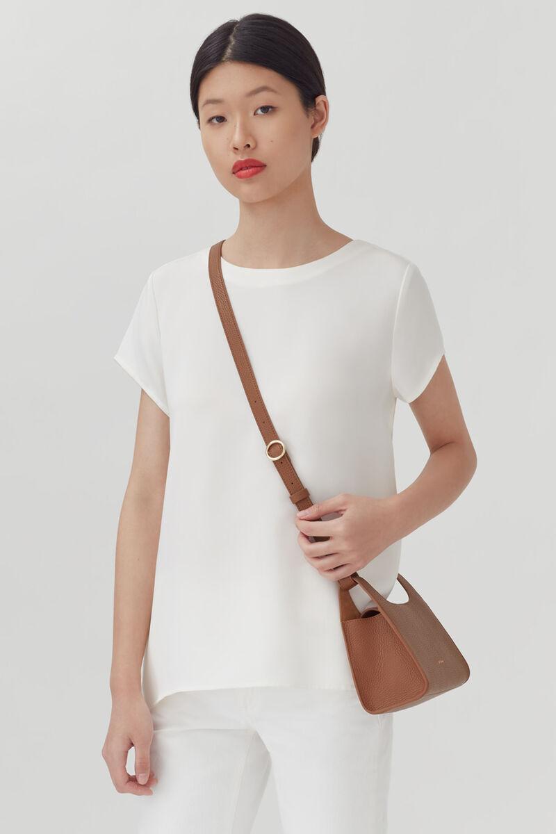 Mini Double Loop Bag, Caramel, large