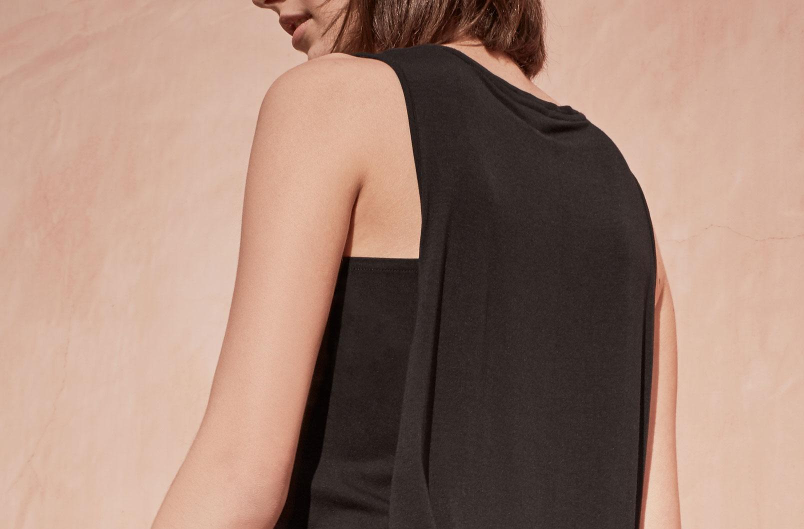 Detail image of Drape-Back Dress