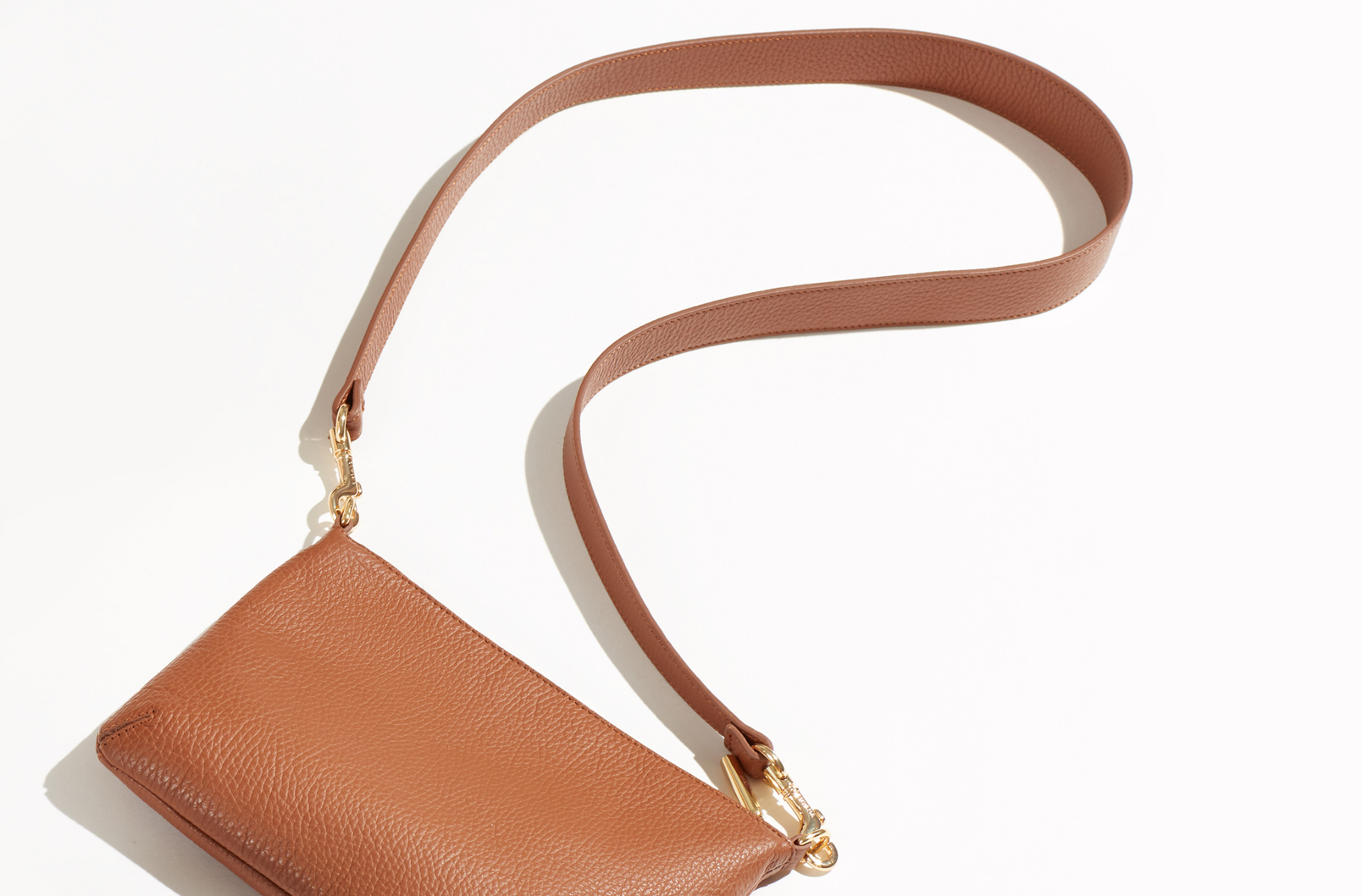 Image showing Curved Crossbody laying flag with strap