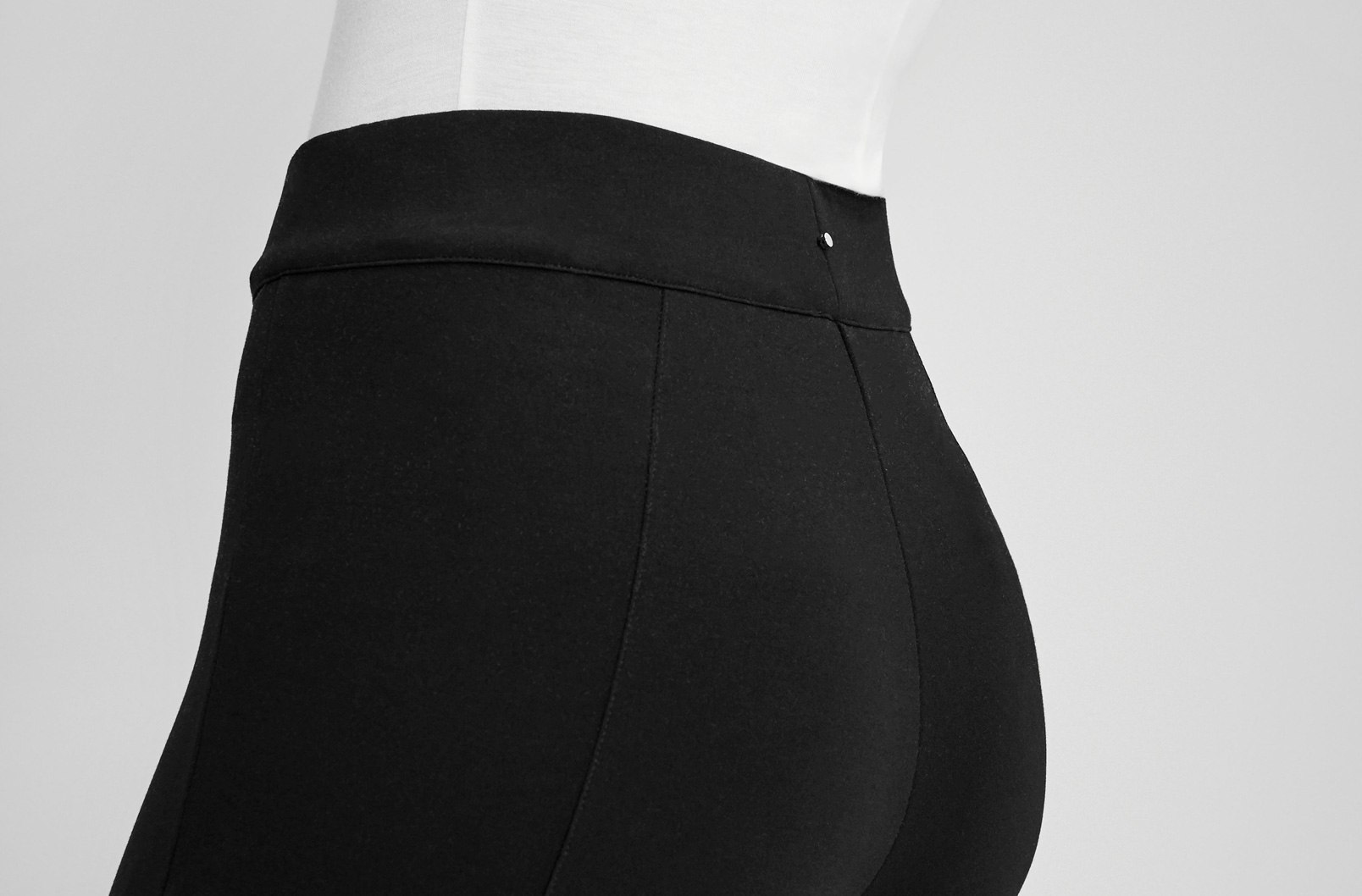 Image showing waistband of Ponte Legging Pant on model
