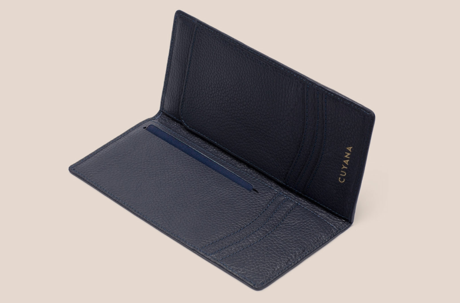 Cuyana Classic Passport Holder interior image with Card Slots