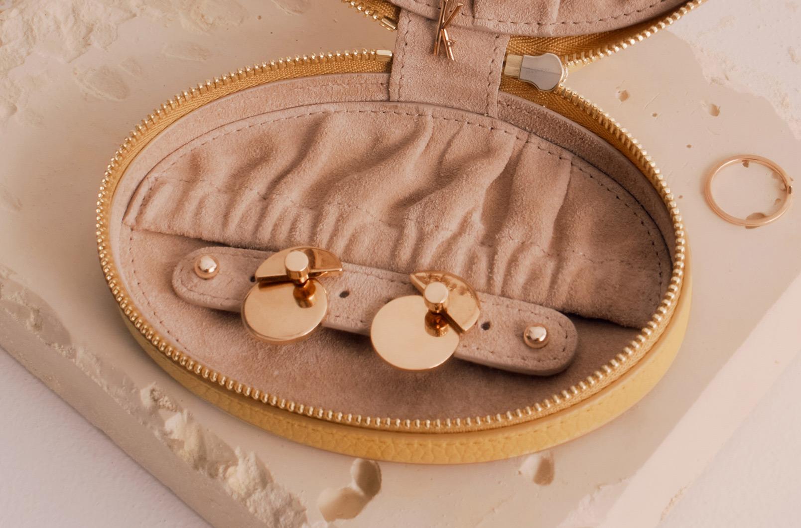 Travel Jewelry Case earring flap