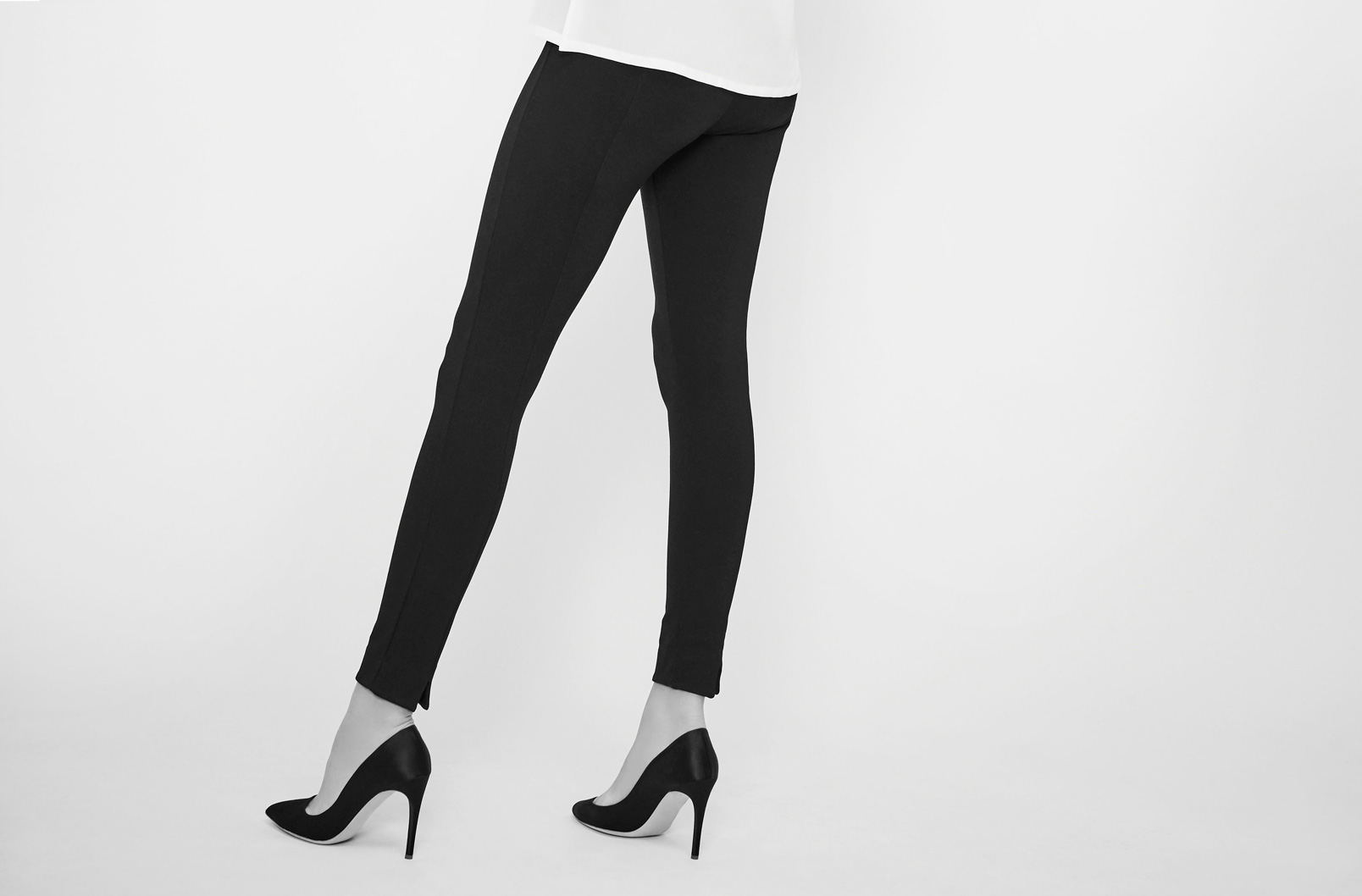 Image showing back detail of Ponte Legging Pant on model