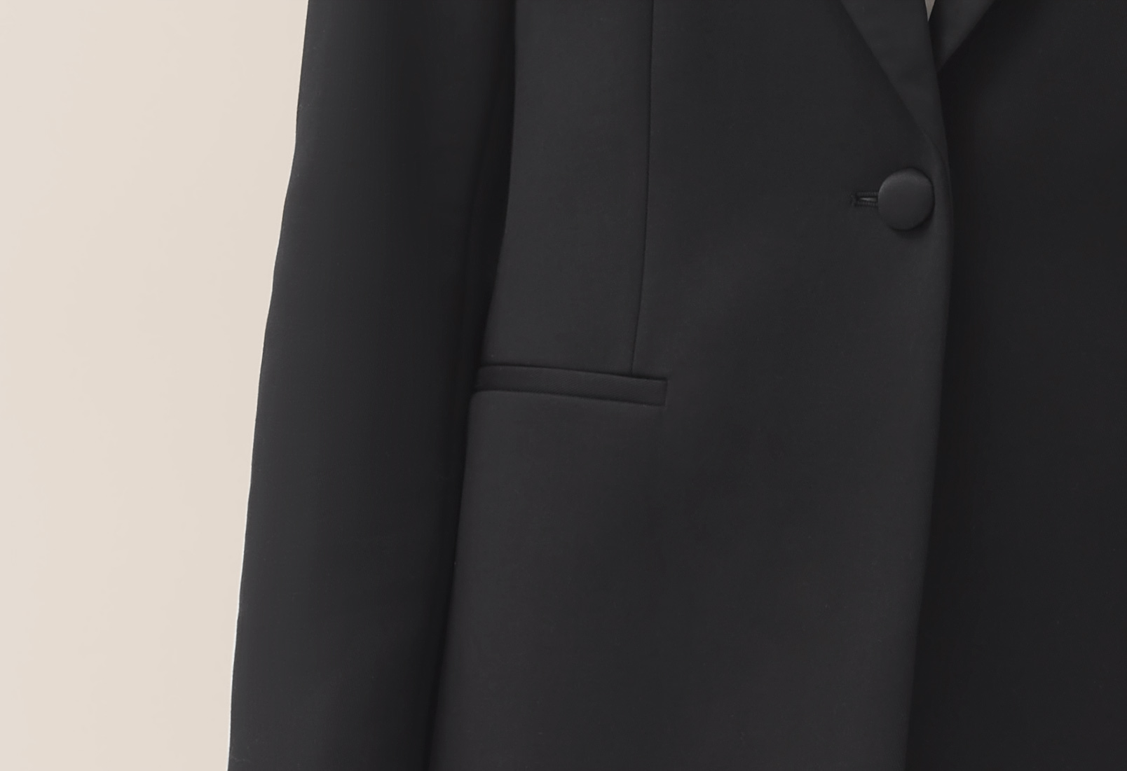 Detail shot of Tuxedo Blazer