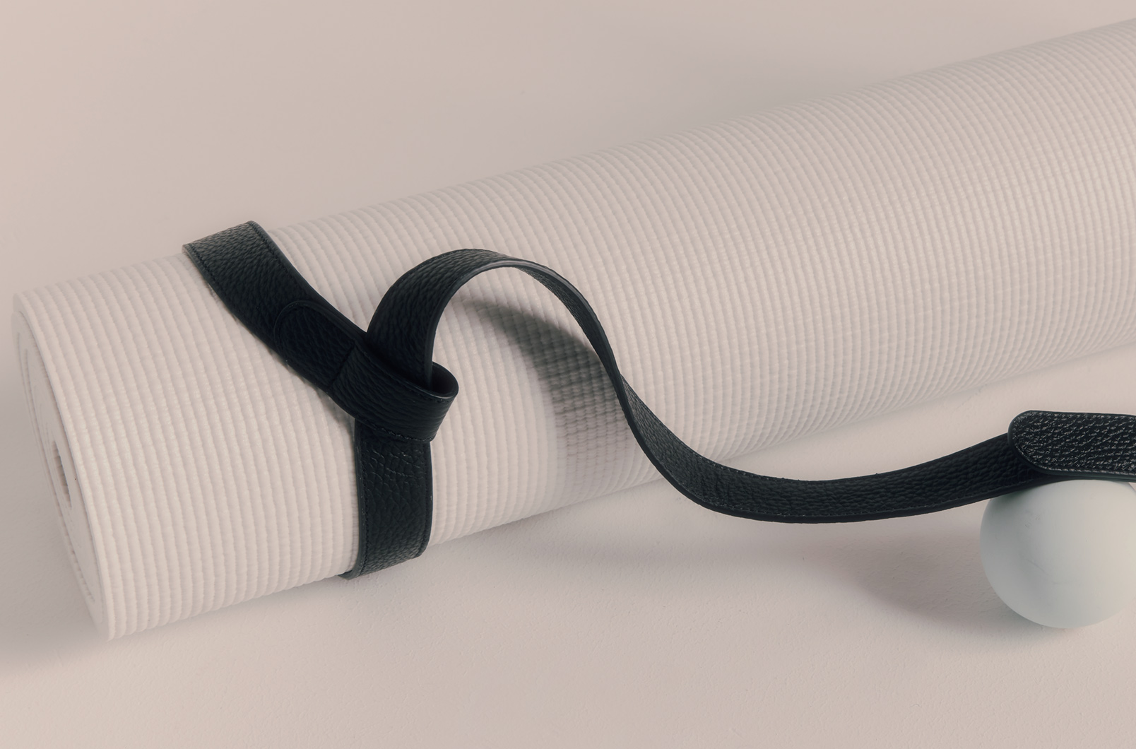 Leather Yoga Mat Strap Detail