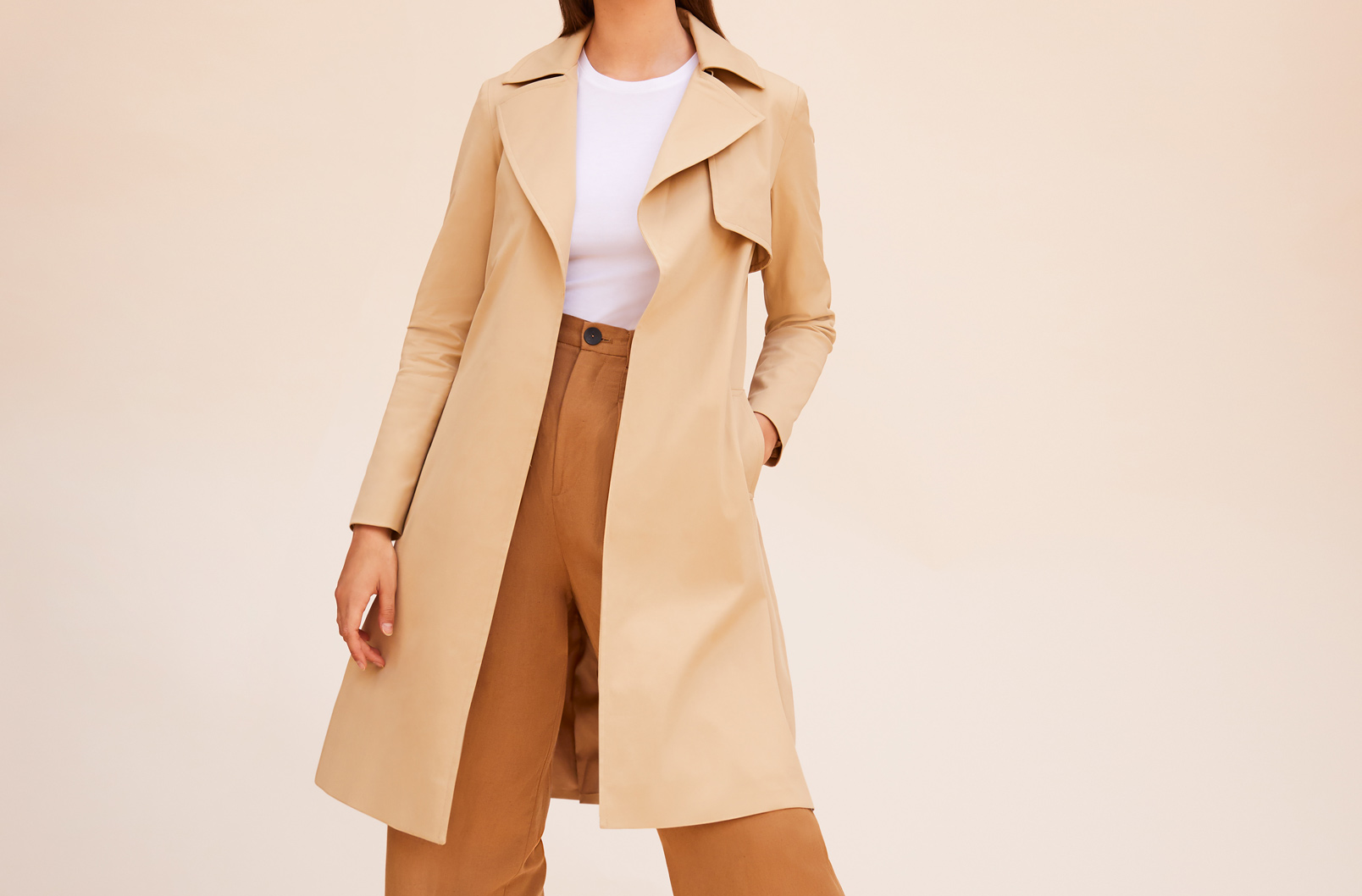 Model wearing Classic Trench Open